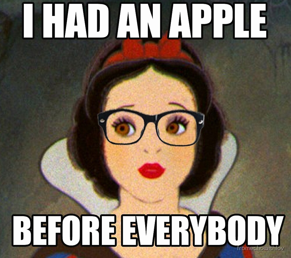 Apples Before Everyone \\ Ironic Royalty Collection by fromechowithlov
