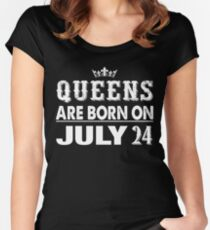Queens Are Born On July 24 Women's Fitted Scoop T-Shirt