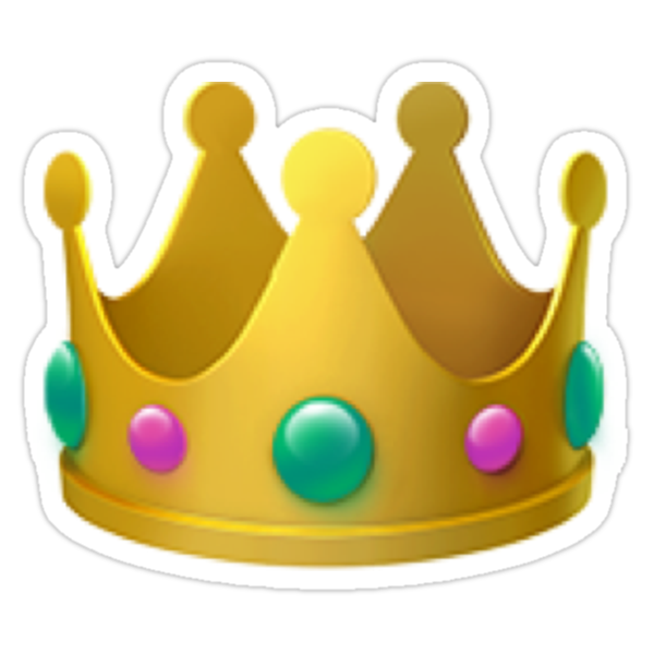 Quot Crown Emoji Quot Stickers By Lauren C Redbubble