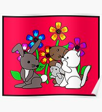 Flower Pets Poster
