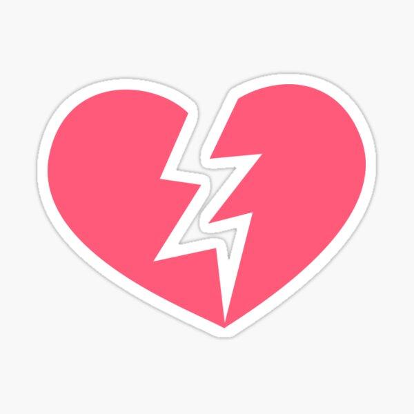 Emoji de corazón roto Pegatina