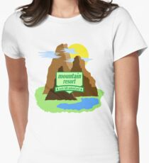 Mountain resort national park Womens Fitted T-Shirt