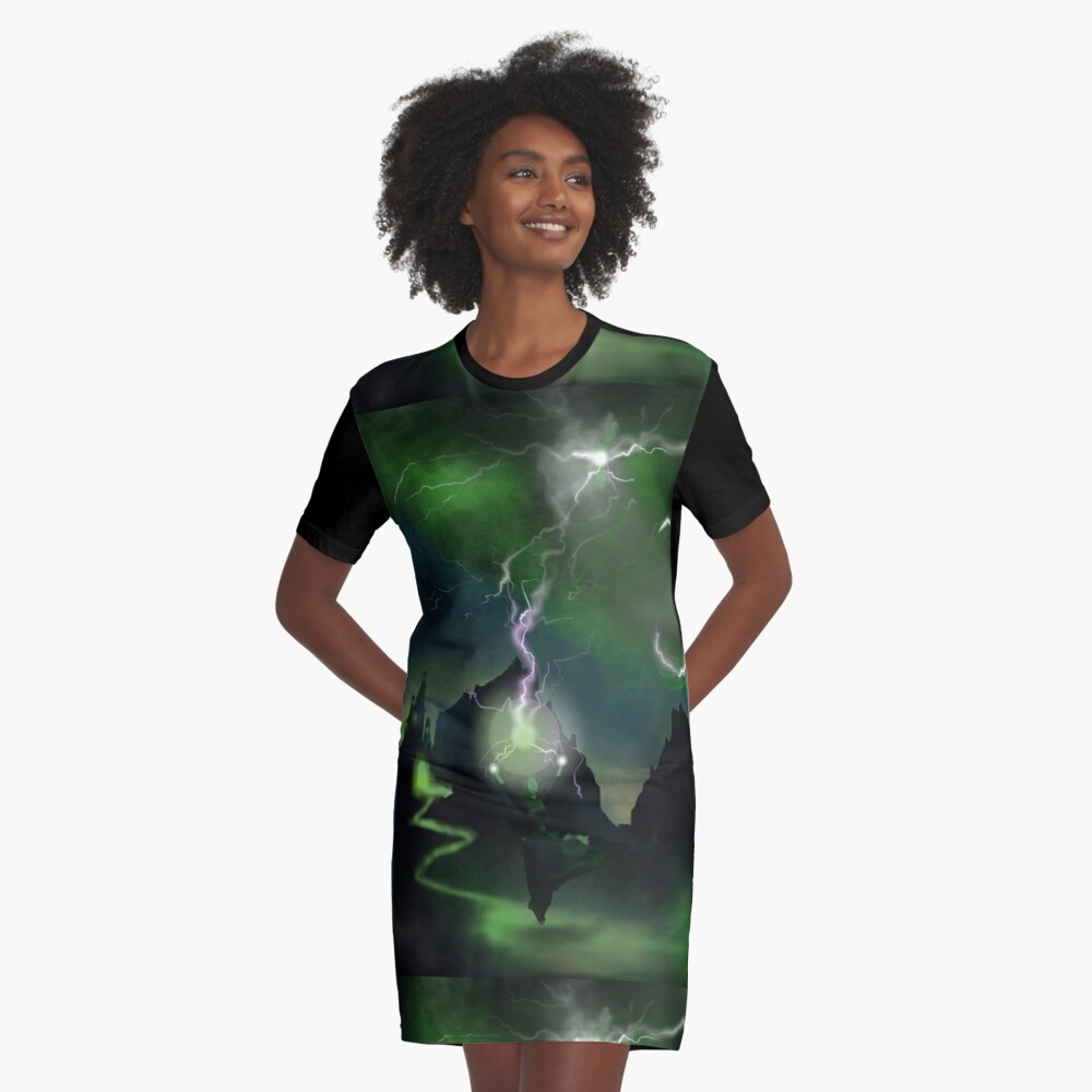 Fury of The Wicked Witch  Graphic T-Shirt Dress