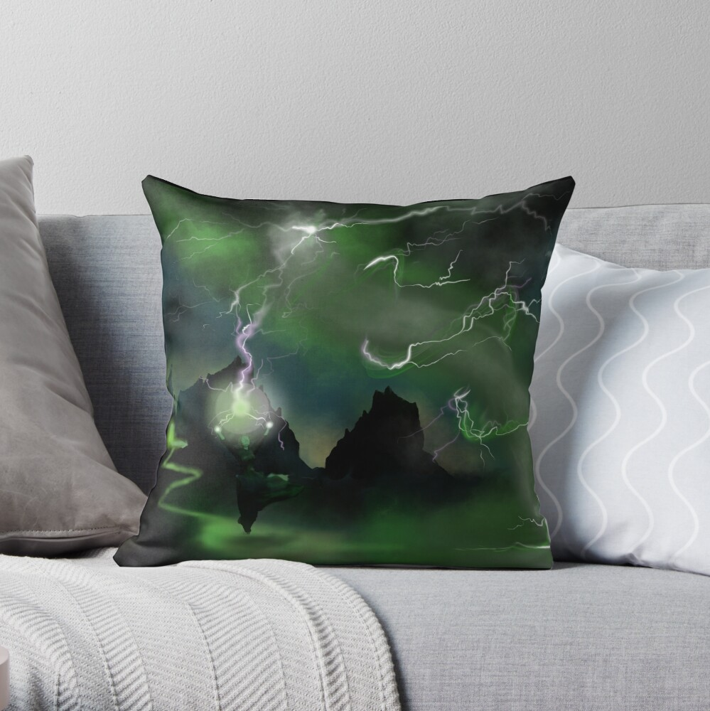 Fury of The Wicked Witch  Throw Pillow