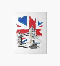 British Union Jack Flag - Tower Bridge, London Art Board