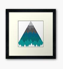 Mountain Geometric Pattern Triangle Framed Print