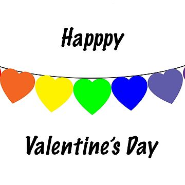 Valentine's Cards: Rainbow Hearts by MADEBYCATHERINE