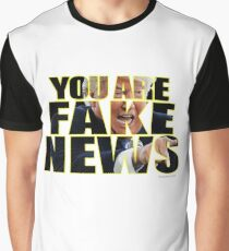 You Are Fake News Press Conference Graphic T-Shirt