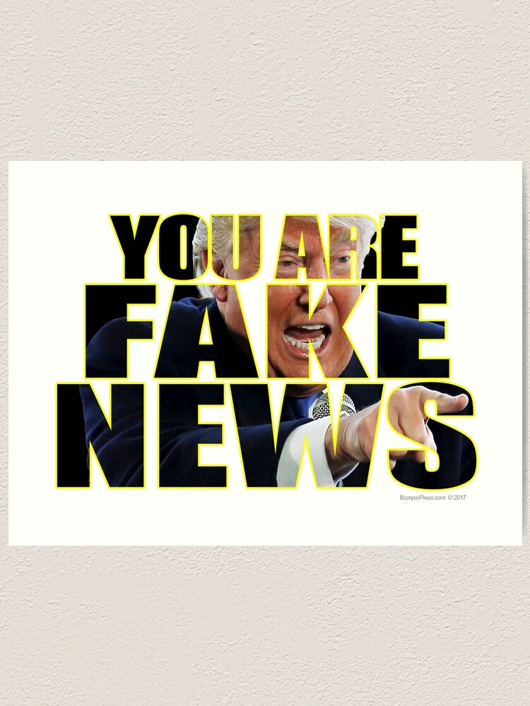 Alternate view of You Are Fake News Press Conference Art Print