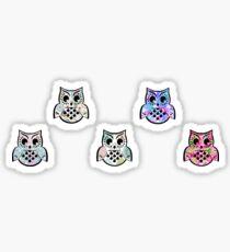 Cute Owl Pack of 5 Sticker