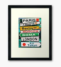 Capital Cities Arrow Sign Information Framed Print