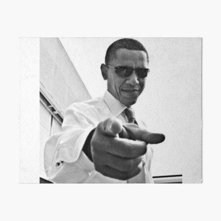 Obama Art Board Print