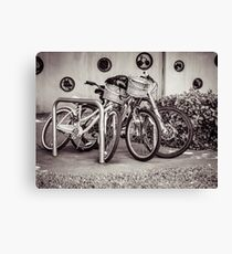 Bicycles In The Stand Canvas Print