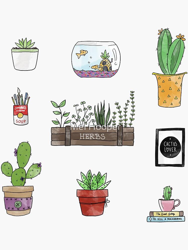 Cactus & Friends Desk by CartoonGirl