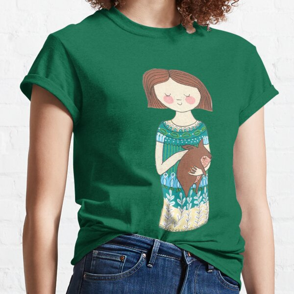 Girl with a wombat Classic T-Shirt
