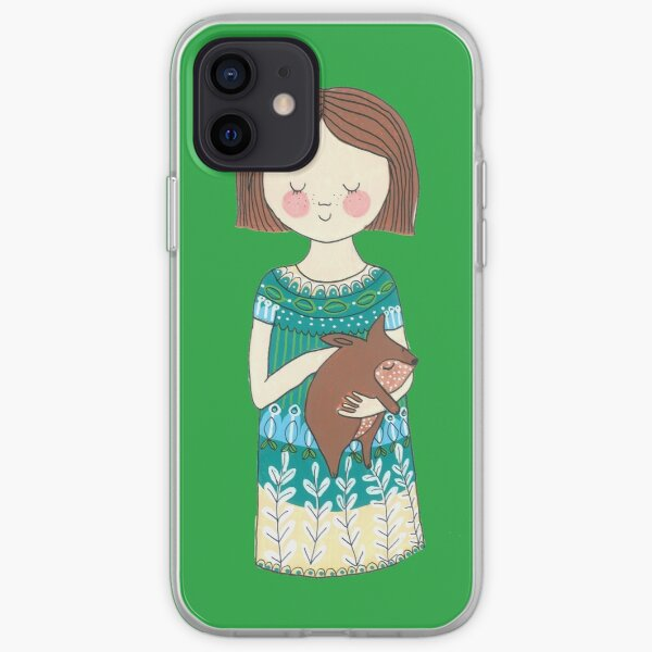 Girl with a wombat iPhone Soft Case