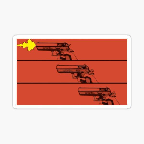 Cowboy Bebop Pistol Graphic Sticker
