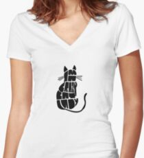 Crazy Cat Lady Women's Fitted V-Neck T-Shirt