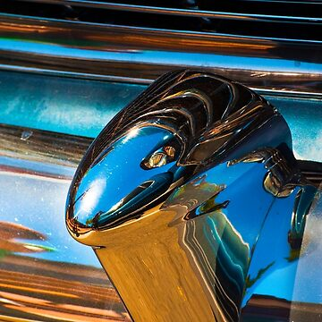 A section from a rear 1954 Chevrolet chrome bumper by eyalna