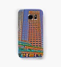 Financial district, reflections Samsung Galaxy Case/Skin
