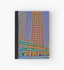 Financial district, reflections Hardcover Journal