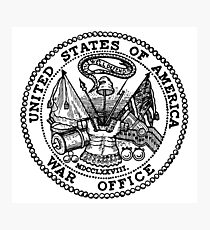 Seal, United States Department of War, Seal of the United States Department of the Army.  Photographic Print