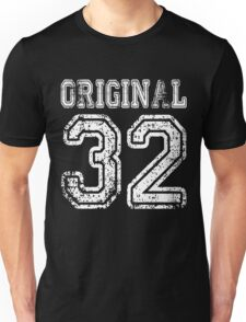 Original 32 2032 1932 T-shirt Birthday Gift Age Year Old Boy Girl Cute Funny Man Woman Jersey Style Unisex T-Shirt