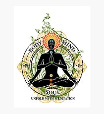 Yoga : Mind Body and Soul KUNDALINI Photographic Print