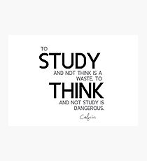 study and think - confucius Photographic Print
