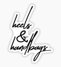 heels & handbags Sticker