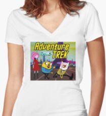 Adventure Trek! Women's Fitted V-Neck T-Shirt