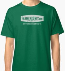 Farmers Only (white logo) Classic T-Shirt
