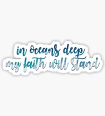 Oceans Lyric Sticker