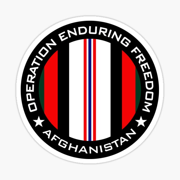 Operation Enduring Freedom - Afghanistan Sticker