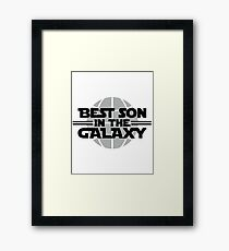 Best Son In The Galaxy Framed Print