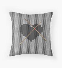 Original Knitted Heart Design  Throw Pillow