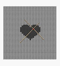 Original Knitted Heart Design  Photographic Print