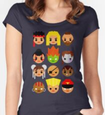 Street Fighter 2 Mini Women's Fitted Scoop T-Shirt