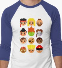 Street Fighter 2 Mini Men's Baseball ¾ T-Shirt