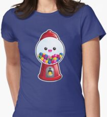 Kawaii Gum Ball Machine Womens Fitted T-Shirt