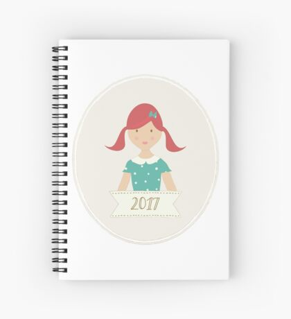 Red Head Ponytails in 2017 Spiral Notebook