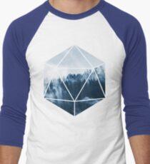 D20 - Misty Treetops Men's Baseball ¾ T-Shirt