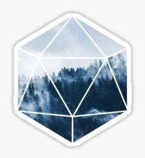D20 - Misty Treetops Sticker
