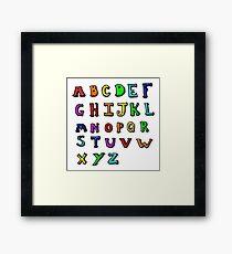 cartoon alphabet Framed Print