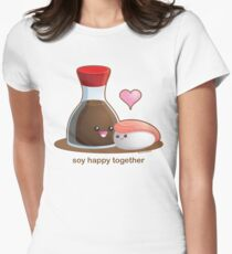 Soy Happy Together Women's Fitted T-Shirt