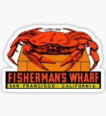 Fisherman's Wharf San Francisco Vintage Travel Decal Sticker