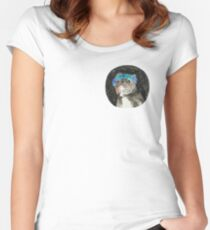 Gary The Space Dog Women's Fitted Scoop T-Shirt