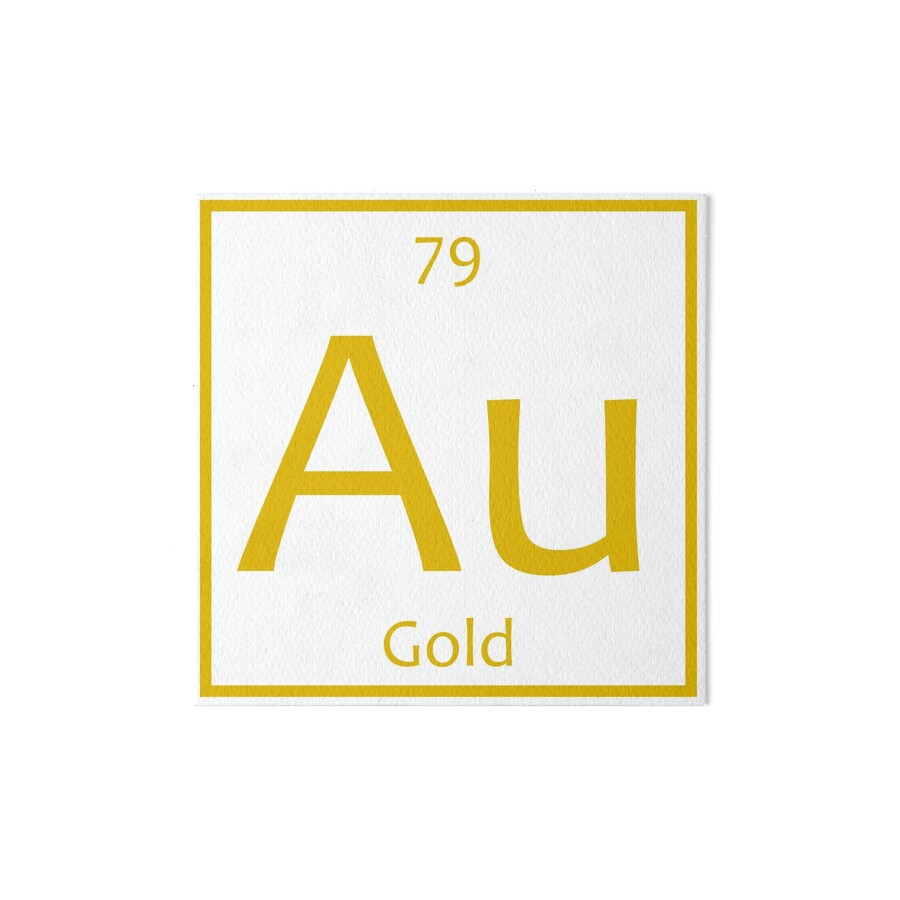 Gold au chemical symbol art boards by the elements redbubble gold au chemical symbol by the elements gamestrikefo Choice Image