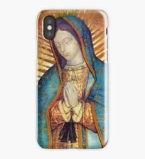 Our Lady of Guadalupe Virgin Mary Tilma Red iPhone Case