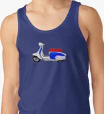 Scooter T-shirts Art: SX200 Dealership Blue Scooter Design Tank Top